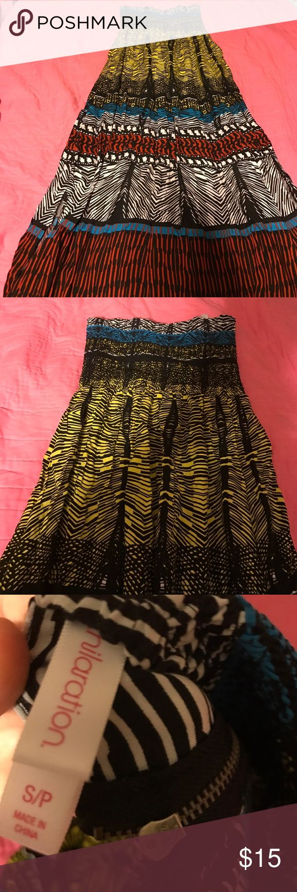 Target brand aztec maxi dress size small Very cute Aztec/tribal print maxi dress. Only worn once excellent condition. No flaws or signs of wear Xhilaration Dresses Maxi