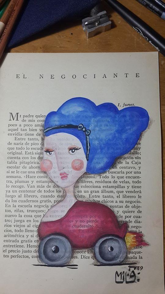 #mujerautomovil #gouaches #libro #iliustraciones #milagalarreta #colores