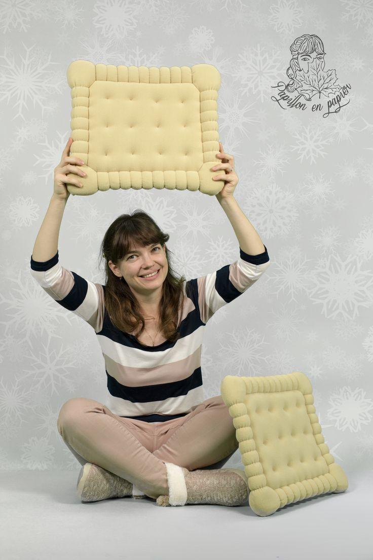 Petit Beurre #handmade pillows - available on demand at papillon.en.papier.shop@gmail.com