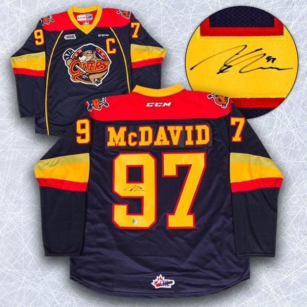 Connor McDavid Erie Otters Autographed Reebok Premier OHL Jersey