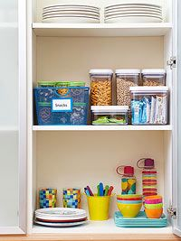 Make a Kids' Pantry: Set up an easy-to-reach space where kids can find their own snacks, and youll encourage independence while still controlling what theyre eating.