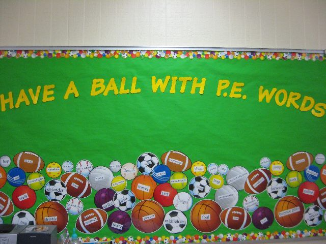 Classroom Pe Ideas ~ Best pe bulletin boards and things for the walls