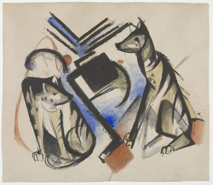 GUGG Two Wolves - Franz Marc - Wikipedia, the free encyclopedia