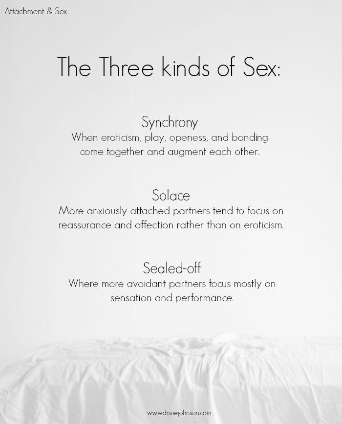 Three Kinds of Sex | Dr. Sue Johnson