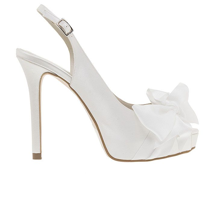 110307-WHITE SATINwww.mourtzi.com #peeptoes #heels #mourtzi #bridal #weddingshoes #bride