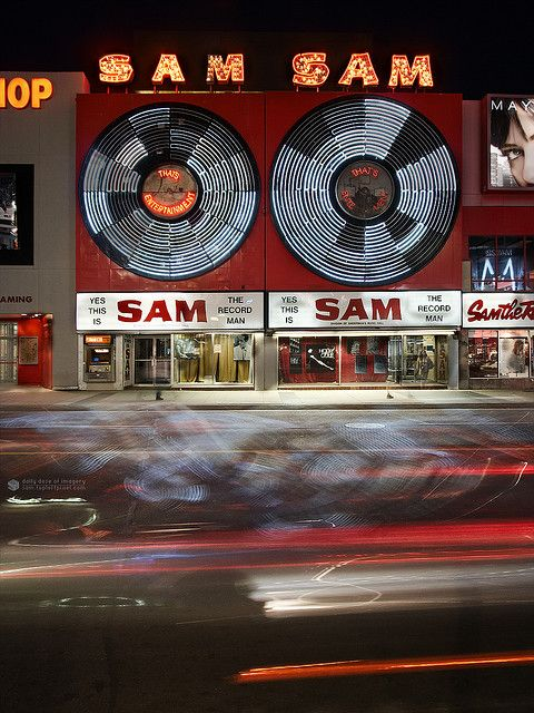 SAM the Record Man, Yonge St, Toronto, Ontario | by wvs, via Flickr. #cities #Canada #travel