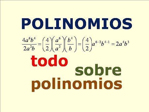 Todo sobre Polinomios, suma, resta, multiplicacion y division de Polinomios, - YouTube