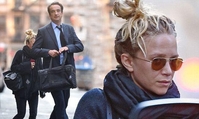 Mary-Kate Olsen, 28, and Olivier Sarkozy, 45, enjoy weekend break