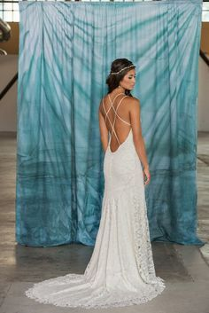 Backless Lace Wedding Dress Low Back by PureMagnoliaCouture