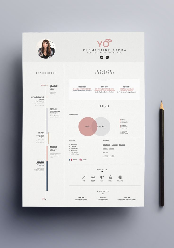 Best 25+ Cv design ideas on Pinterest Creative cv design, Cv - resume template design
