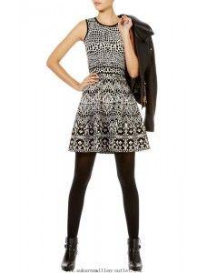 Affordable Karen Millen Black KR044 Lace Jacquard Knit Dress,2014 Karen Millen Dress,2014 Karen Millen Dress uk sale #karen #millen #dress