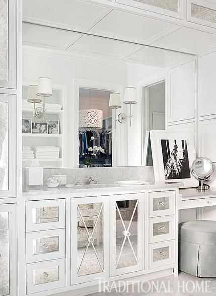 How Could You Not Feel Glamorous Getting Ready At This Gorgeous Vanity