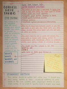 Aprende cómo memorizar mejor con el sistema de notas Cornell.