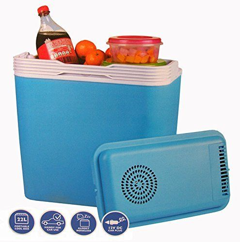 Frigo Portable 12 V Box Thermique 22 L (Camping Bleu Mer Voyage pour Voiture: Deze draagbare koelbox / frigobox (22 Liter / 12V) is ideaal…