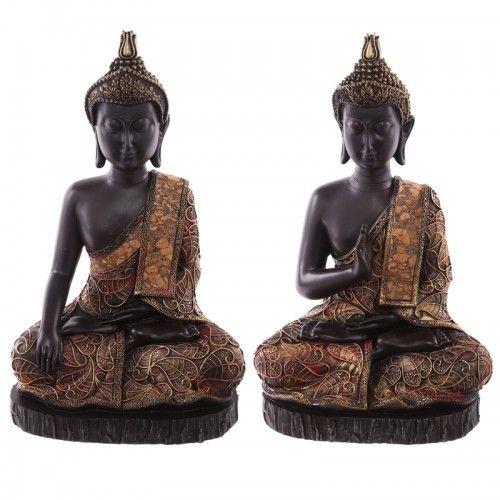 Buddha : Decorative Antique Red Large Sitting Thai Buddha