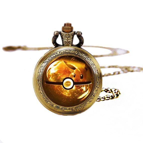 Original Pocket Watch Necklace,Unique Jewelry Size:Pocket Watch Diameter 35mm and Glass dome round With Necklace:30.7inches Material:Bronze Metal Battery Introduction: The unique pocket watch, has a d