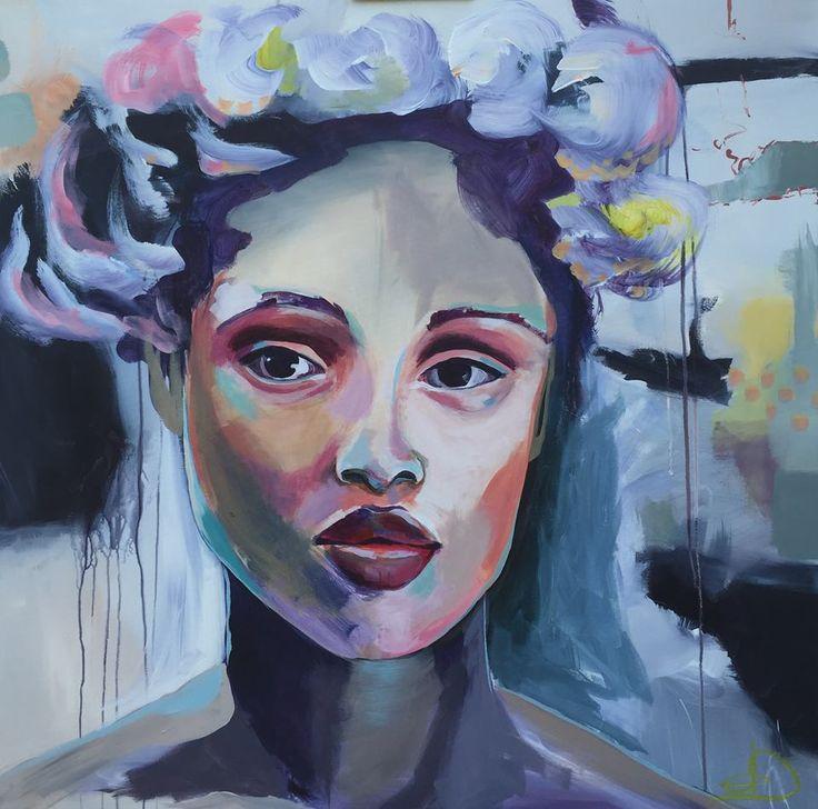 """Amelia"" 80X80 Cm. Acrylic on canvas Made by Naja Duarte"