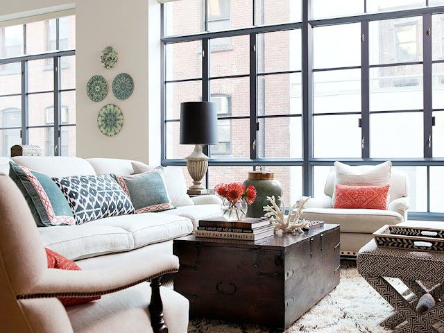: Big Window, Black Window, Living Rooms, Color, Jenny Wolf, Trunks, Jennywolf, Memorial Tables, New York Apartment