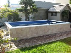 Endless Pools Can Fit Virtually Anywhere Indoors Or Outside Landscape In 2018 Ground Above Pool Backyard