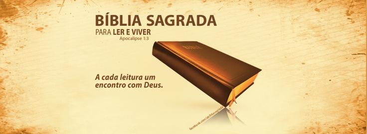 """""""Feliz quem lê este livro, e felizes aqueles que ouvem as palavras desta mensagem profética e obedecem ao que está escrito neste livro! Pois está perto o tempo em que todas essas coisas acontecerão."""" Apocalipse 1:3"""