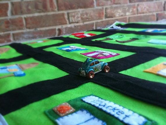 My Town Play Mat by thegreencrayon on Etsy, $50.00