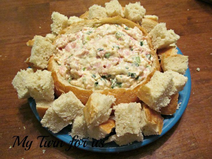 My Turn (for us): Easy Shrimp Dip in Bread Bowl