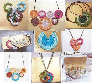 Crocheted jewelry.