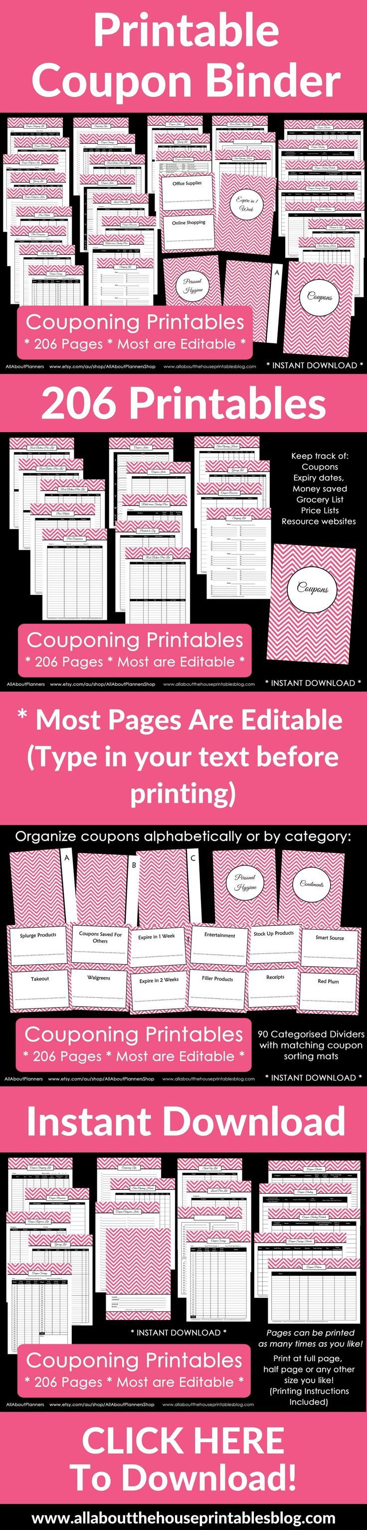 Coupon Master Clipping Service - How to make a coupon binder and keep it organized plus printables