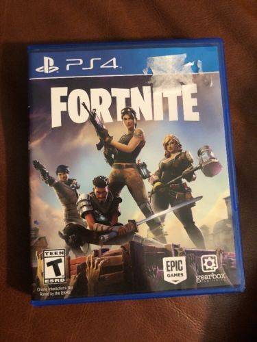 Fortnite Ps4 Playstation 4 Game Physical Disc Case W Codes
