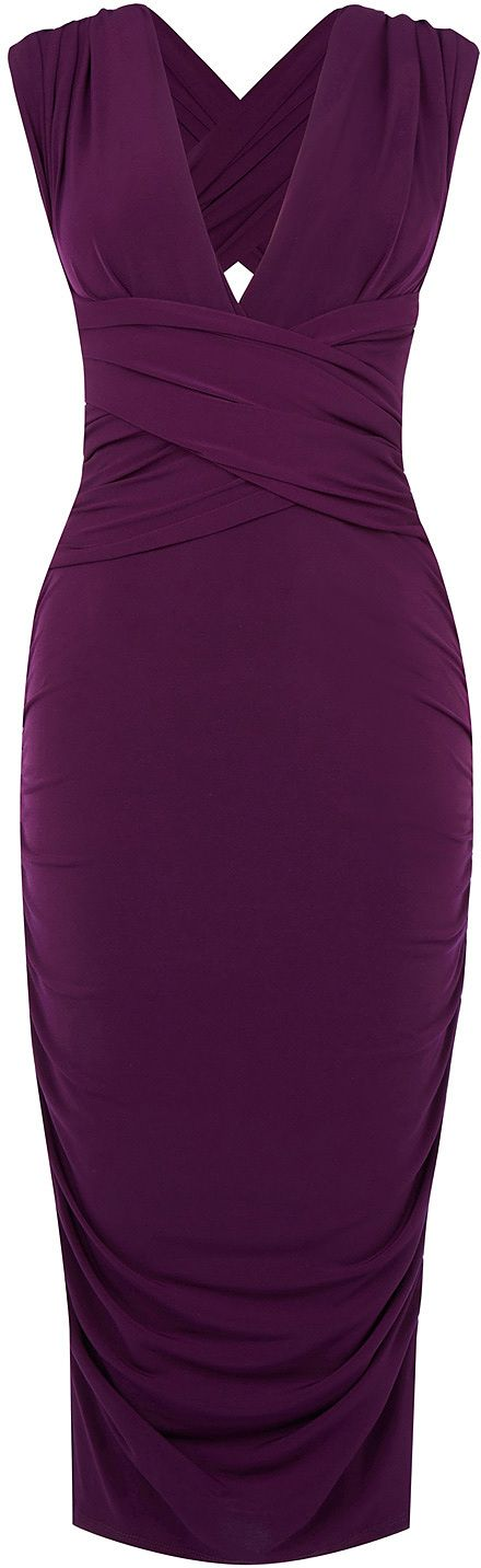 Womens plum wear it your way pencil dress from Oasis - £60 at ClothingByColour.com