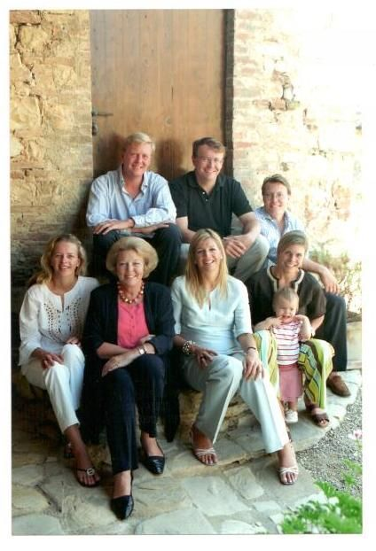 The Royal family with Queen Beatrix' first grandchild, Eloise.