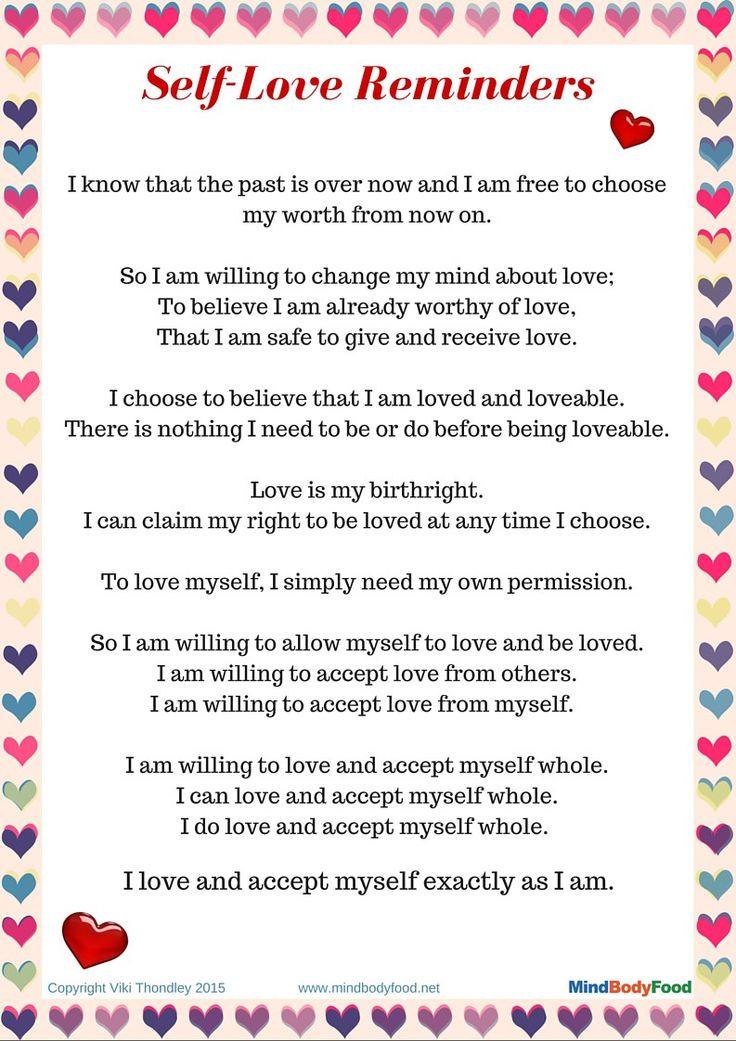 Why You Need to Love Yourself + Free PDF Printable - MindBodyFood