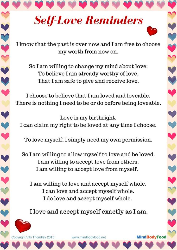 Why You Need to Love Yourself + Free PDF Printable - MindBodyFood