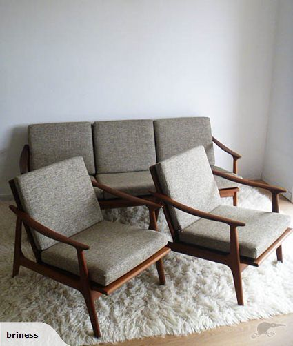 Parker lounge suite, newly upholstered