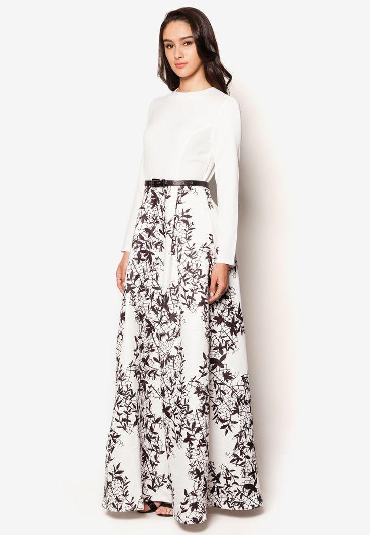 Buy Zalia Silhouette Print Fit And Flare Dress Online | ZALORA Malaysia