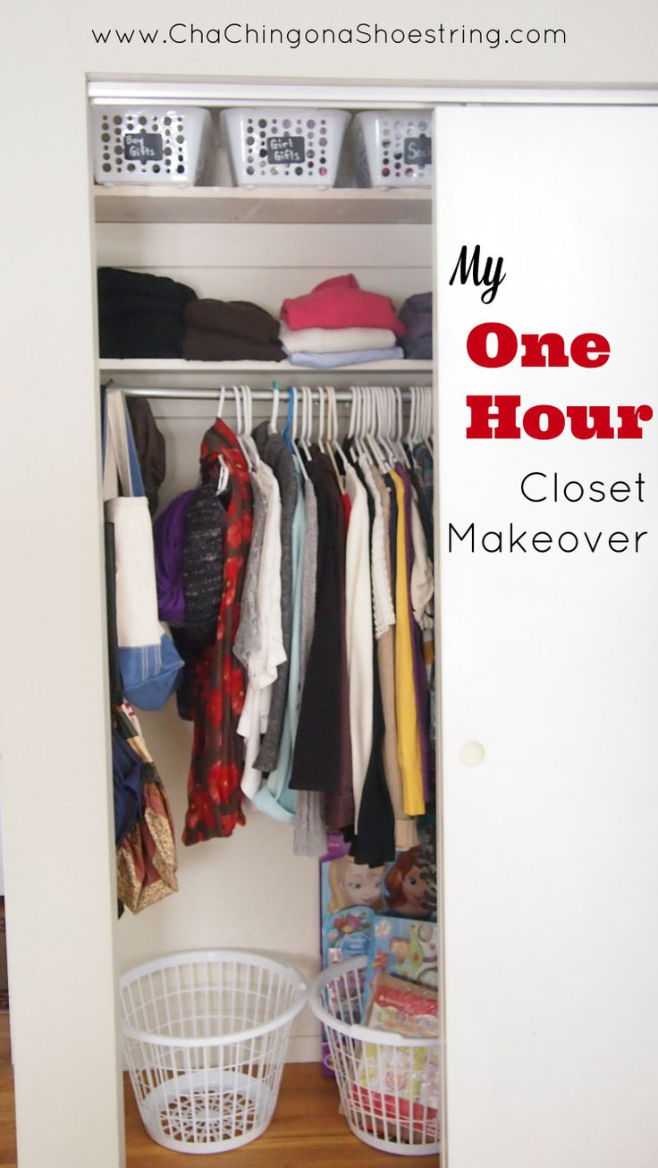 Don't have time to make over your disorganized closet? That's what I thought too - until inspiration hit. Find out how One Hour + One Dollar Store trip changed everything for me.