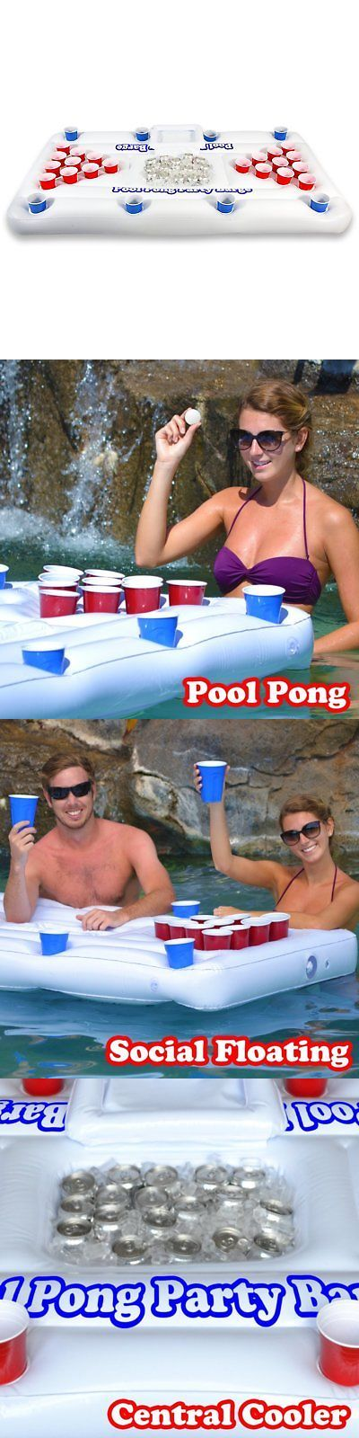 Floats and Rafts 181055: Gopong Pool Party Barge Floating Beer Pong Table With Cooler, White, 6-Feet -> BUY IT NOW ONLY: $49.38 on eBay!