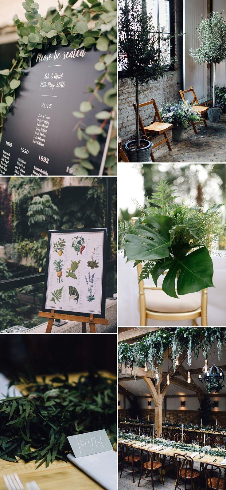 Greenery Wedding Decor Inspiration | Pantone Colour of The Year 2017 Greenery