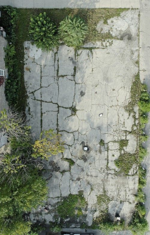 empty lot, chicago - chad gerth  from above it becomes an abstract painting