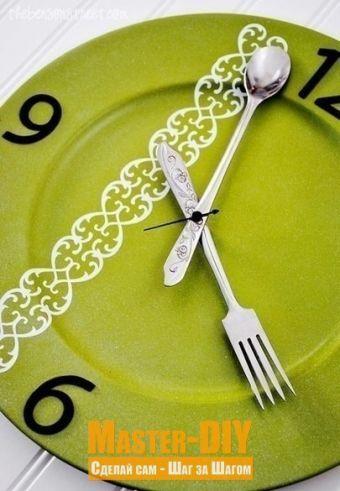 Кухонные часы из тарелки