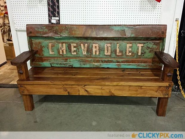 41 DIY Truck Tailgate Bench Ideas � Upcycle a Rusty Tailgate
