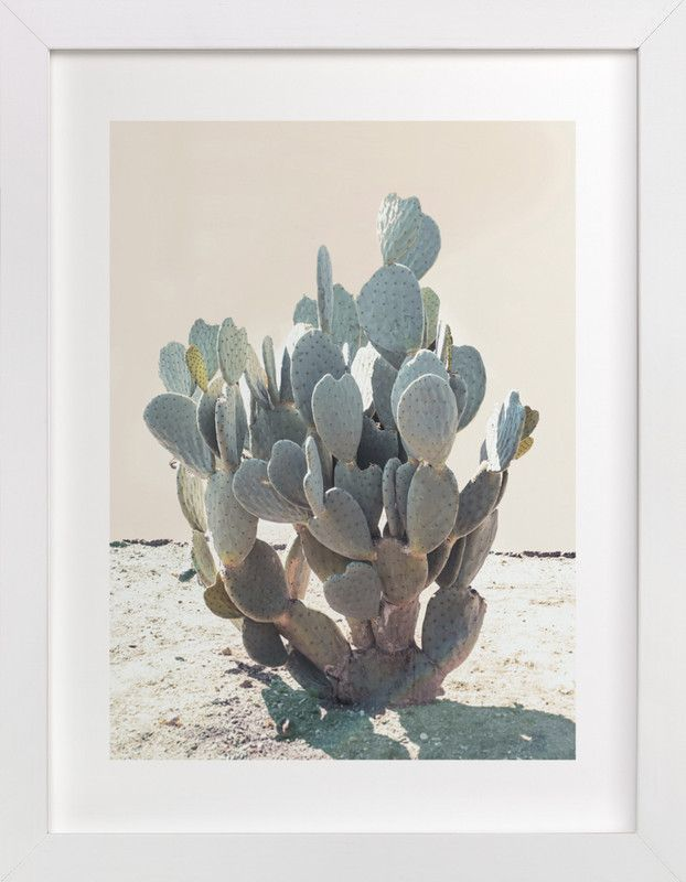 """Blue Cactus"" by Wilder California in beautiful frame options and a variety of sizes."
