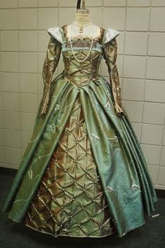 green renaissance gown