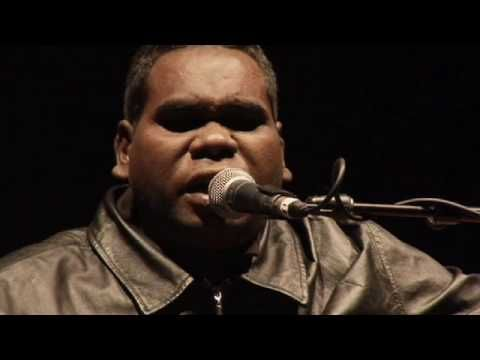 """Geoffrey Gurrumul  (pronounced Ga-roo-mull) Yunupingu - Wiyathul-  beautiful, gentle, amazing, his music takes you to another place and brings peace to your soul. Lots of links on Youtube. A privilege to listen to- also check out """"I was Born Blind"""" and duet with Sting."""