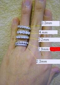 Eternity band sizes