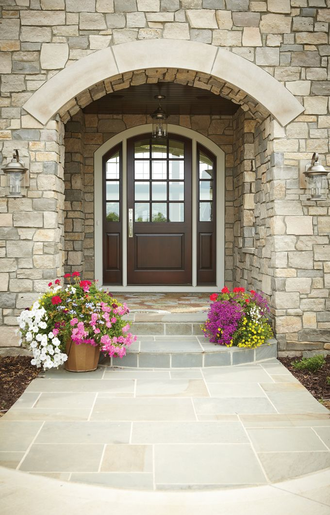 Best 25 stone veneer exterior ideas on pinterest for French country house plans with front porch
