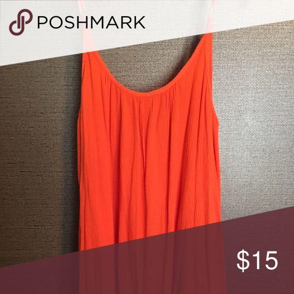 Spaghetti strap beach dress Orange beach dress with low back Roxy Dresses Mini