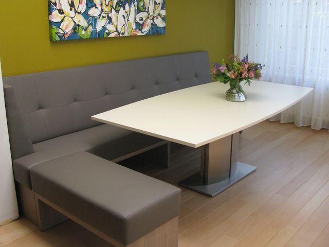 Design eetbanken, maatwerk hoekbanken, ronde loungebanken, hockers.
