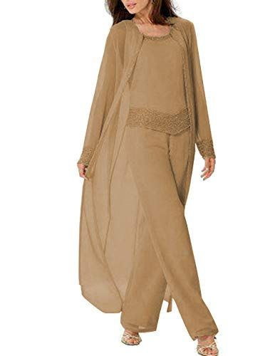 1af893a35ae Fitty Lell Women s Khaki Three-Pieces Mother of The Bride... https