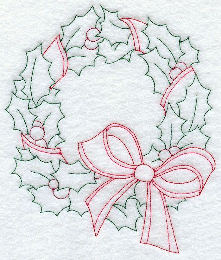 Use as a pattern for a quilled wreath!